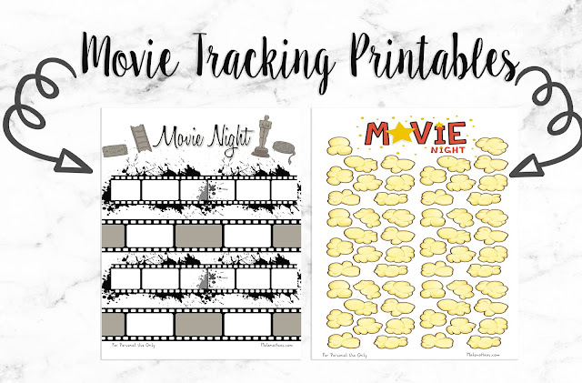 Movie Tracking Printable for Planner or Bullet Journal