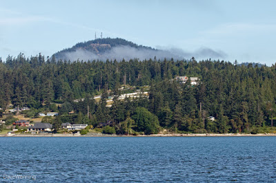 Mount Erie from Boathouse Beach  This is an Anacortes city park  You can drive to the top