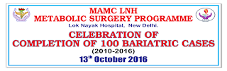 LNJP'S METABOLIC SURGEY PROGRAMME CELEBRATES 101BARIATRIC SURGERIES