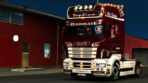 Scania RJL skin Vabis Denmark