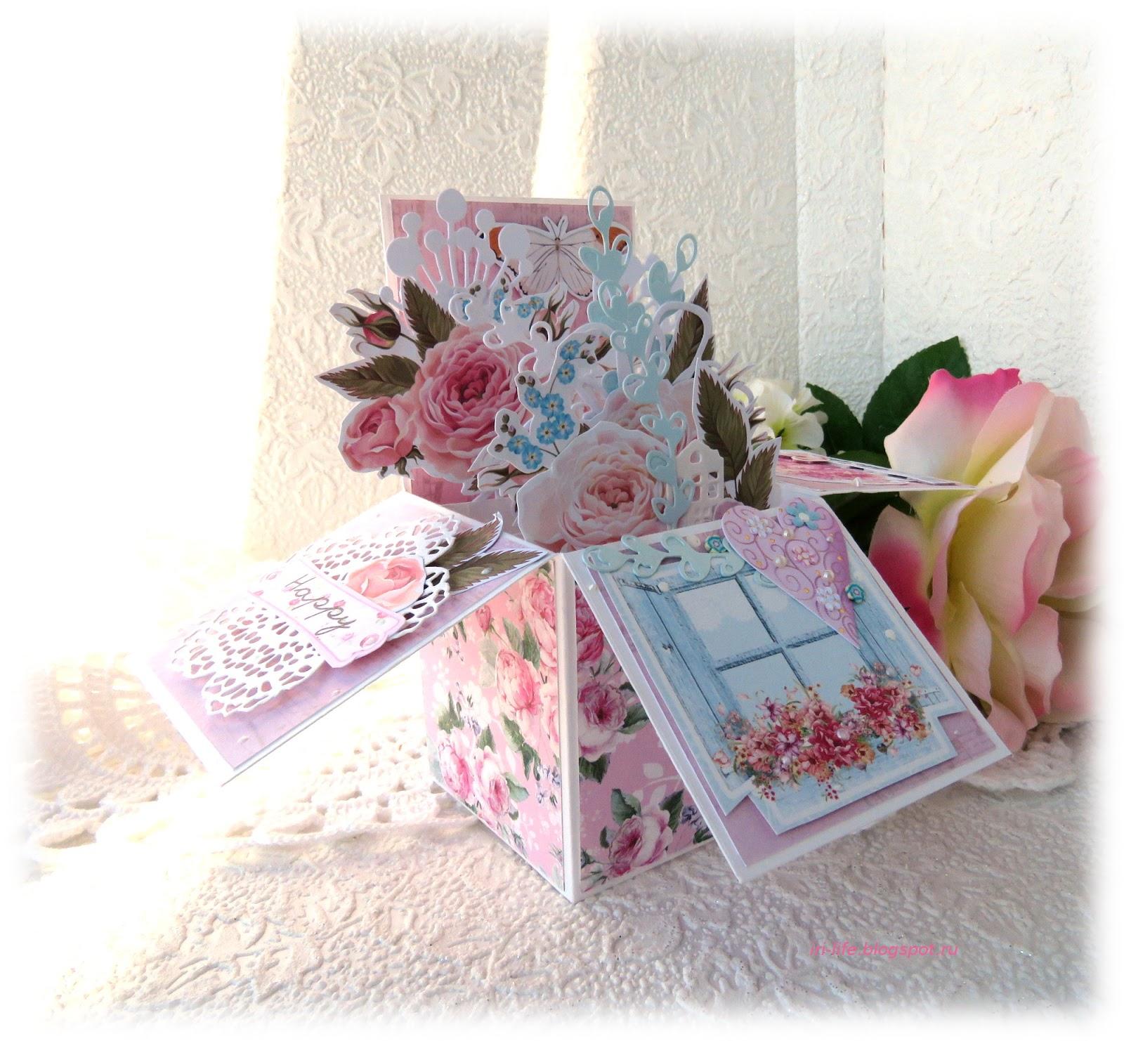 Пожеланиями, поделка коробочка открытка