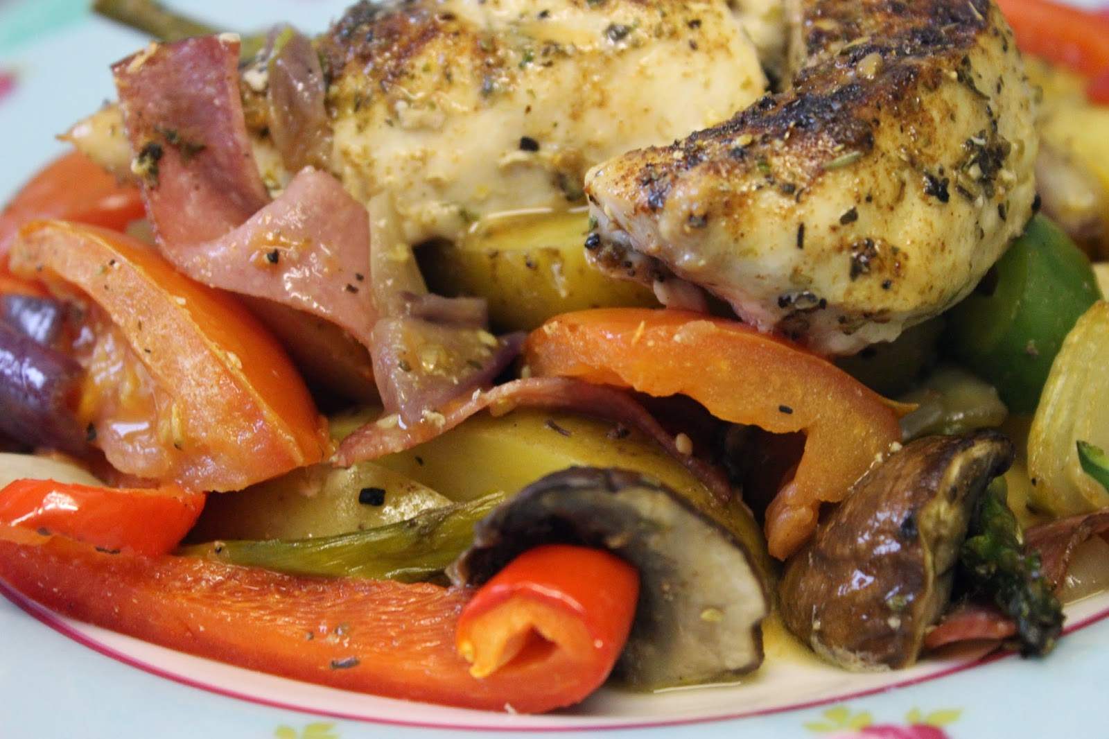 Spanish-Style Chicken Bake