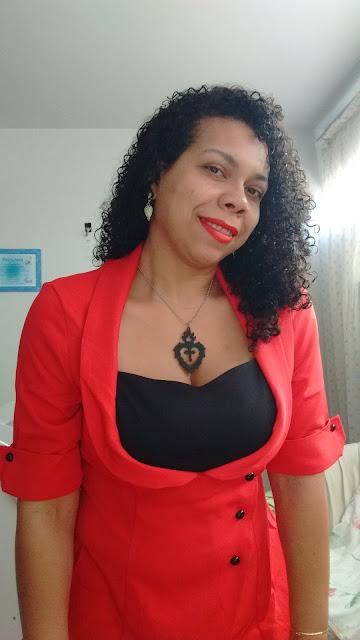 Recebidos Loja Dresslily blusa vermelha detalhes frontais, bia shaina, beatriz shaina