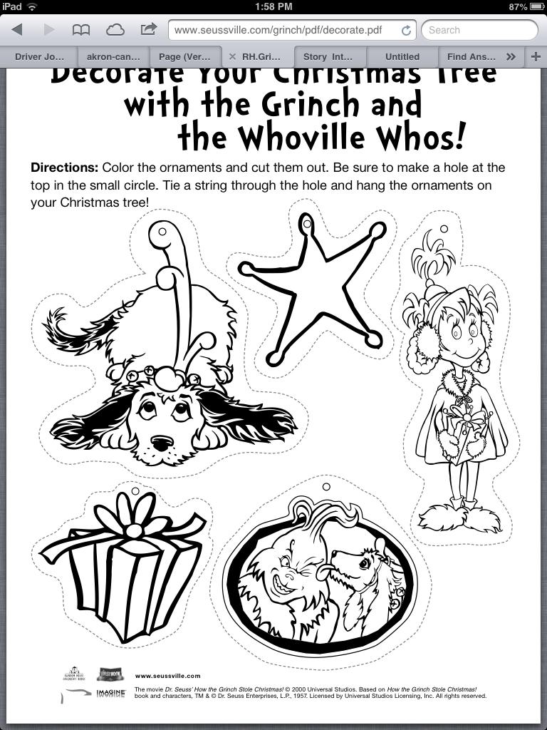 dibujos de Grinch en Navidad