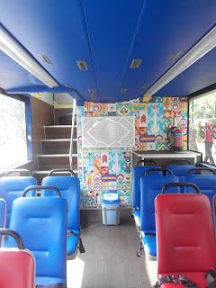 Lantai dasar bus tingkat wisata Jakarta