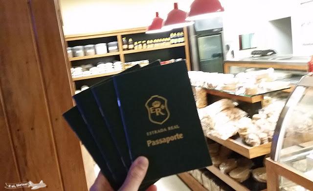 Carimbo, passaporte, Caminho dos Diamantes, Estrada Real, Conceição do Mato Dentro, Lojas Delícias Daqui