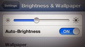 brightness & wallpaper