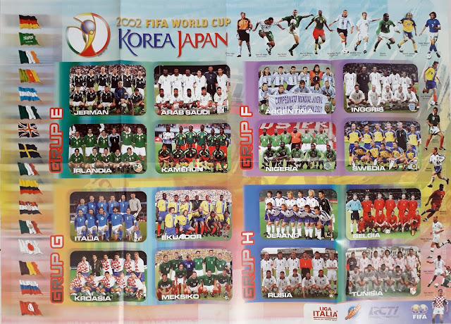 POSTER 2002 FIFA WORLD CUP KOREA JAPAN GRUP E, F, G & H