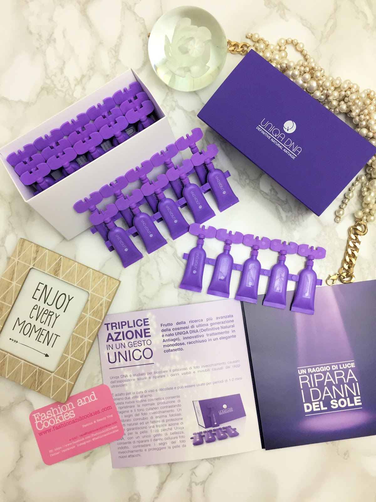 UNIQA DNA by Pea Cosmetics per riparare, contrastare e prevenire i danni del fotoinvecchiamento su Fashion and Cookies beauty blog, beauty blogger
