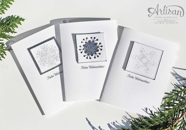 weihnachtskarten mit schneeflocken