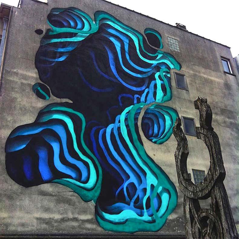 Murales 3D del artista 1010 desaparecen dentro de las paredes