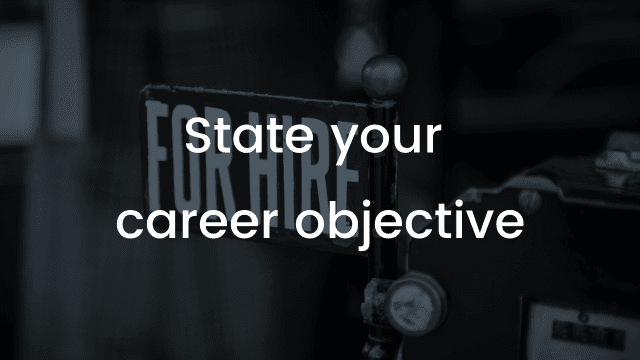 How to write a good career objective in your CV