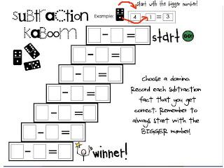 Tales From a K-1 Classroom: FREEBIE!! new math games