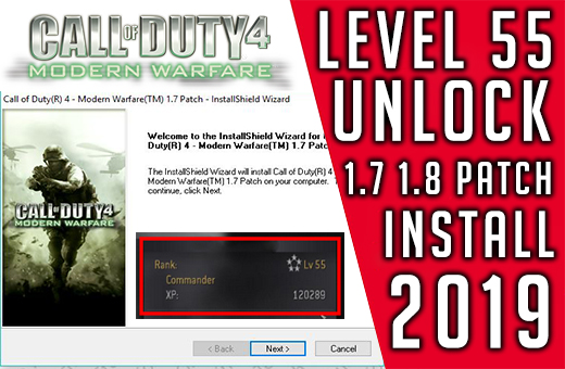 How to unlock COD 4 level 55 and golden guns 1.8 patch 2019