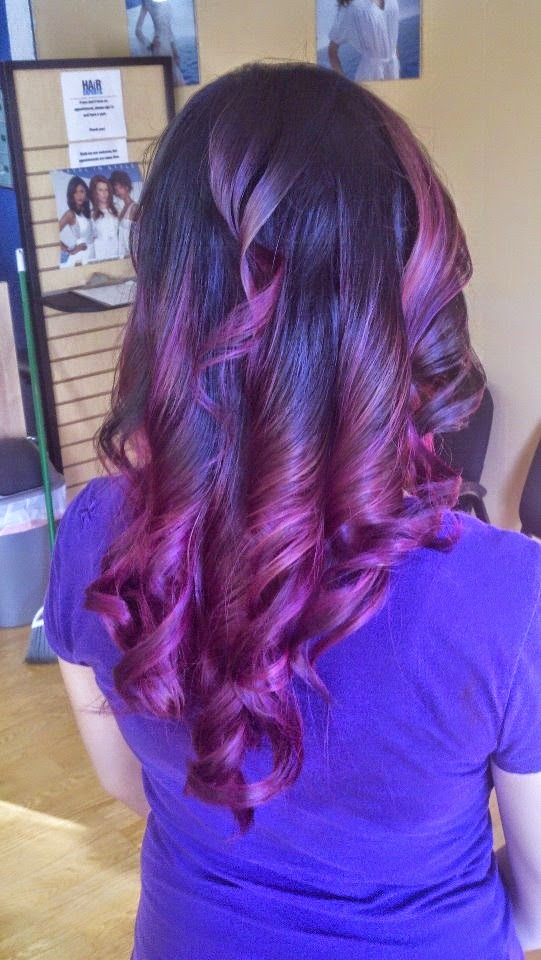 Black to Purple Ombre Hair