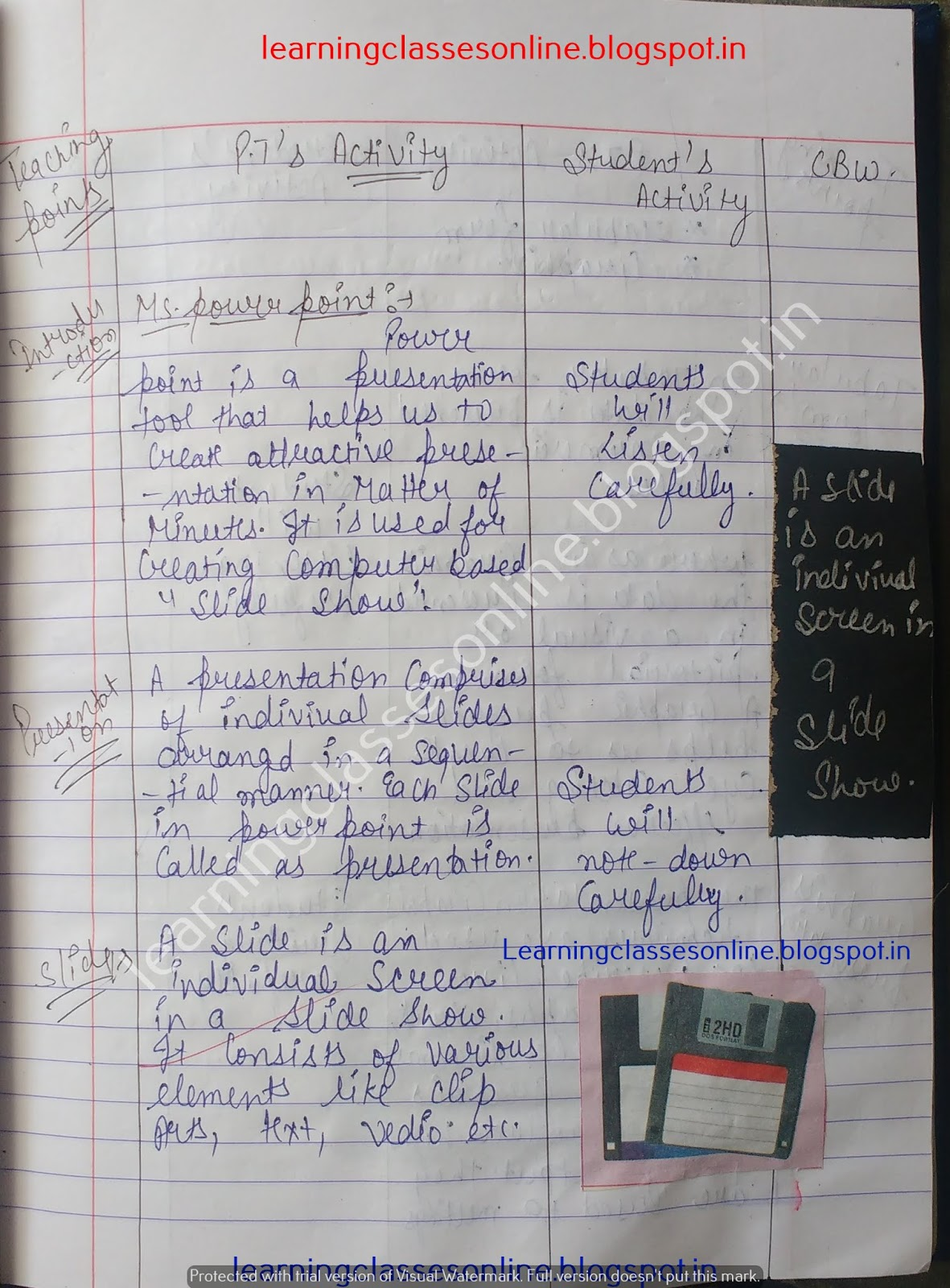 Lesson Plan For Computer Science Class Xii,