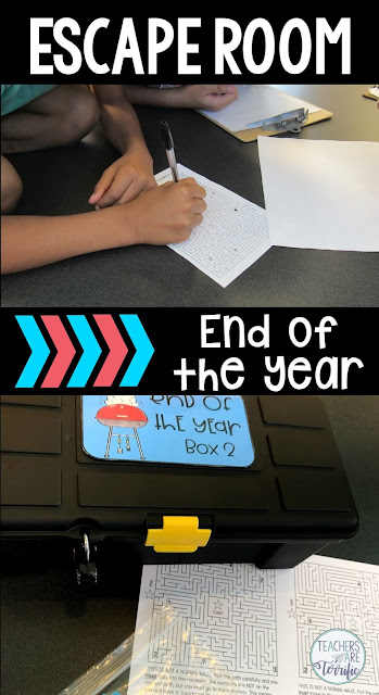 If you are looking for an Escape Room experience for your kids to end their school year, this will be perfect! An Escape room is a puzzle game in which students solve riddles and puzzles and find clues to finish tasks. In this Quest, students solve puzzles to open locked boxes. Students will complete a scavenger hunt to find clues, they have a maze to draw paths through to collect clues, and they have a secret coded message! In the end, they can complete the STEM Challenge that is included.