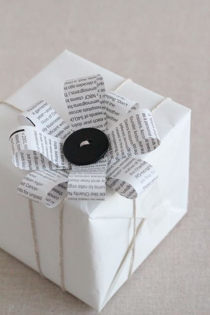 white gift wraopping