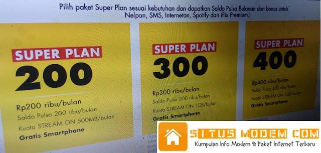 Cuma Berlangganan Paket Super Plan Indosat Oooredoo Bisa Dapat Smartphone Gratis dan Bonus Lainnya, Buruan Segera Daftar !!!