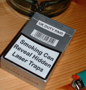 smoking can reveal hidden laser traps, smoking funny ad, smoking advertisment, smoking can reveal, smoking laser, smoking laser traps, smoking traps