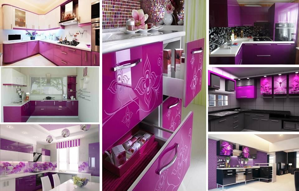 15 Glossy Purple Kitchen Cabinets