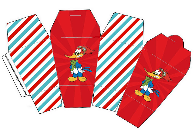 Woody Woodpecker Free Printable Boxes.