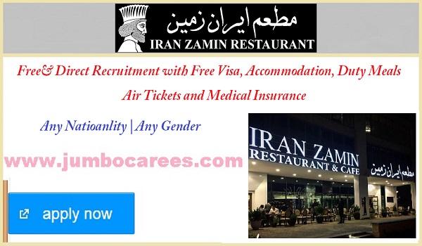 Latest restaurant jobs description, Salary details and benefits of Dubai Restaurant jobs,