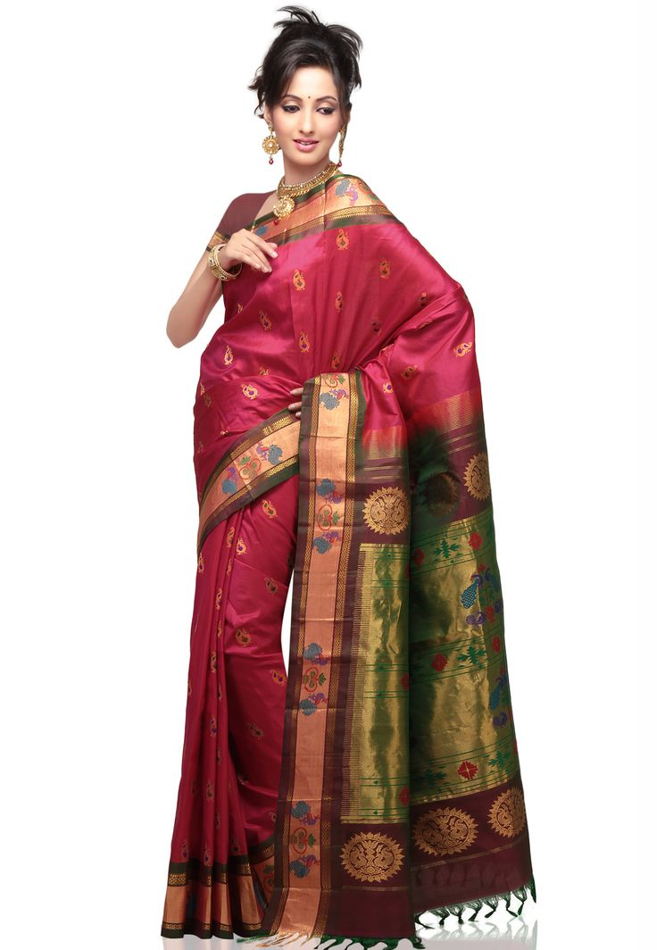 Latest India Regal Paithani Saree Designs Maharashtrian