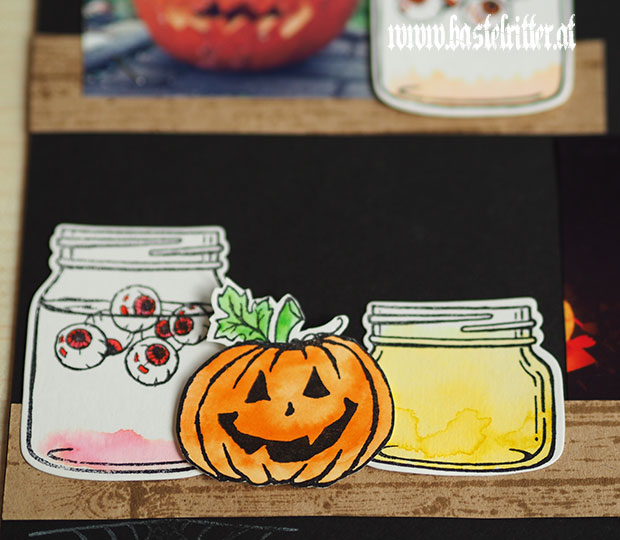 jar of haunts halloween szenerie stampin up bastelritter layout