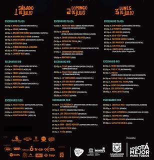 PROGRAMACIÓN COMPLETA DEL FESTIVAL ROCK AL PARQUE 2017
