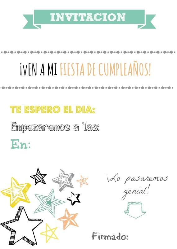 Invitación de cumpleaños - El imprimible del miércoles semana 22