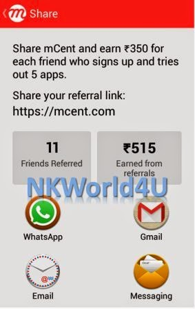 NKWorld4U mcent free mobile recharge