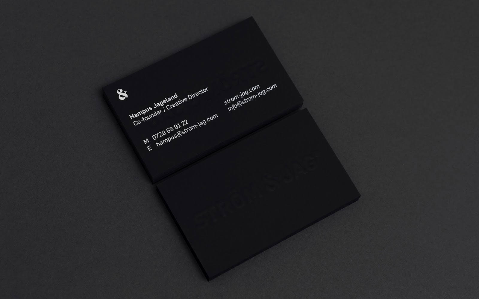 Good design makes me happy: Project Love: Ström & Jag Businesscards