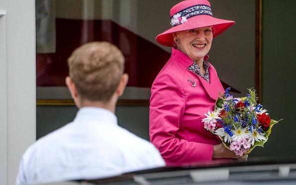 Crown Princess Mary, Crown Prince Frederik, Princess Josephine, Prince Christian, Princess Isabella, Prince Vincent. Crown Princess Mary wore SEA Sabine Dress
