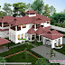 5 bedroom luxury traditional Kerala house architecture