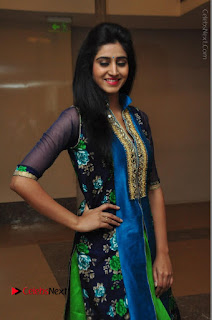 Actress Model Shamili Sounderajan Pos in Desginer Long Dress at Khwaaish Designer Exhibition Curtain Raiser  0023.JPG