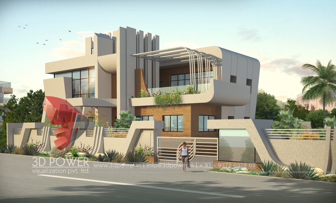 Residential towers row houses township designs villa for Architecture villa design