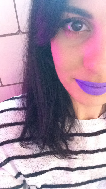 Wearing NYX Liquid Suede Cream Lipstick