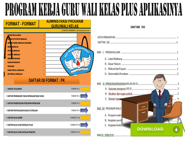 Aplikasi Program Guru Wali Kelas Format Words dan Excel