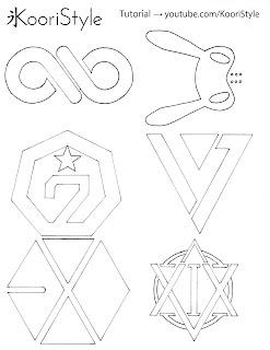 le, Kpop, Kpop DIY, DIY, Recycled Plastic, Charm, Kpop Tutorial, tutorial, Do it yourself, Manualidad, como hacer, plastico reciclado, reciclar, recycle, easy DIY, Got7, Infinite, Seventeen, vixx, exo, bap, logo, logos, plantilla, printable, free