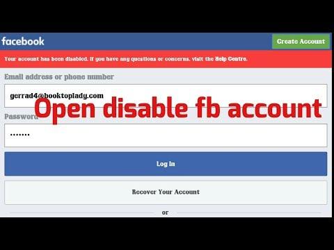 Facebook Disabled ID Ko Kaise Open Kare [2018] Trick - TricksWik