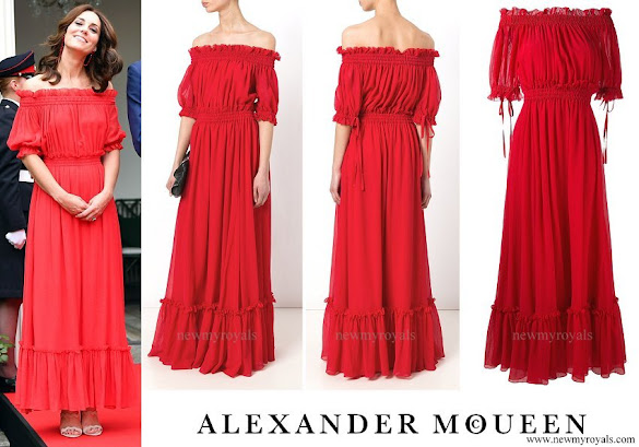 Kate Middleton wore ALEXANDER MCQUEEN off-the shoulder gown