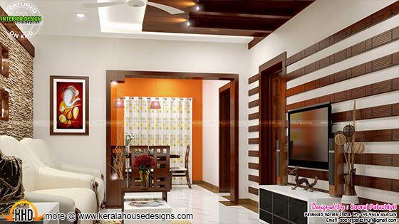 Living room - Kerala apartment interior