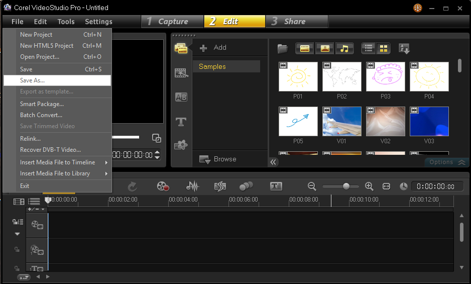 Cara Menyimpan Hasil Project Corel Video Studio 2