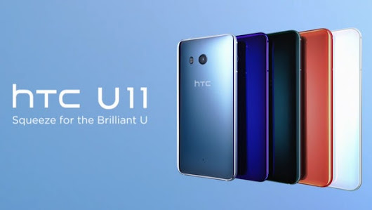 HTC U 11 arrives with squeezable sides and premium specs