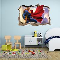 Vinilos de super héroes para decorar la habitación de los niños SUPERMAN