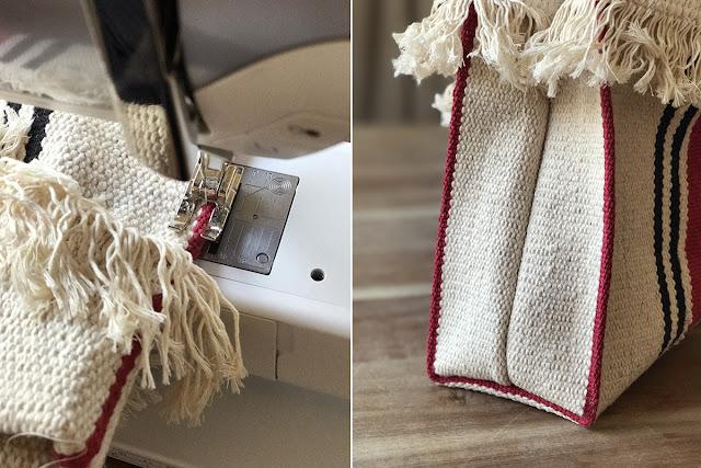 Bolso con alfombra de IKEA