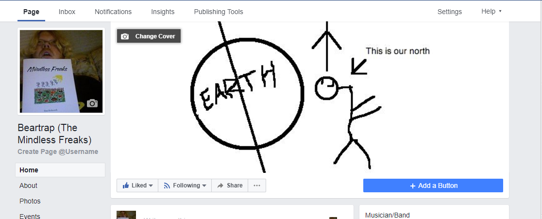 39bf933659a Mindless Freaks Facebook cover art not about Flat Earth-Other Mindless  Freaks things I noticed