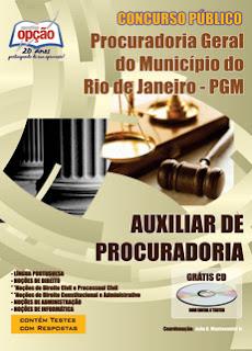 Apostila Auxiliar de Procuradoria Procuradoria Geral RJ (PGM RJ)
