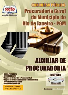 Apostila Procuradoria Geral RJ - Auxiliar de Procuradoria (PGM RJ)